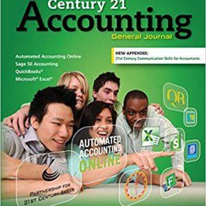 Century 21 Accounting General Journal, 9th Edition Claudia Bienias Gilbertson, Mark W. Lehman solutions manual