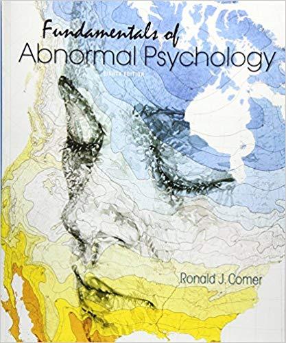 Amazon. Com: abnormal psychology (9781464102868): ronald j. Comer.