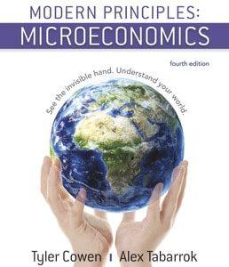 Modern Principles Microeconomics 4th edition Tyler Cowen , Alex Tabarrok Test Bank