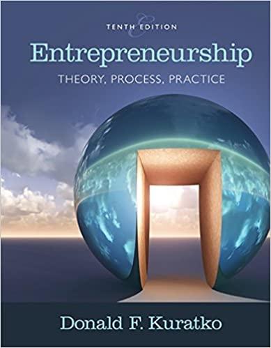 Entrepreneurship Theory, Process, and Practice , 10th Edition Donald F. Kuratko Test Bank