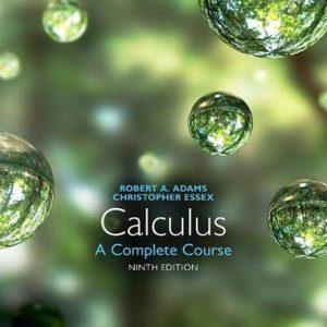 Calculus A Complete Course, 9E Robert A. Adams, Christopher Essex Test Bank