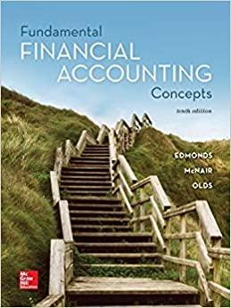 Fundamental Financial Accounting Concepts, 10e P. Edmonds, T. Edmonds, M. McNair, R. Olds, Test Bank