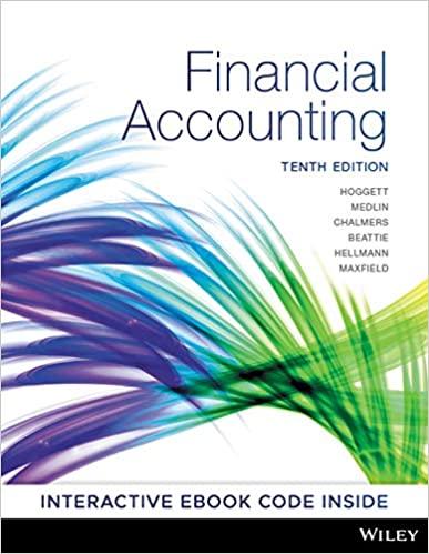Hoggett, Medlin, Chalmers, Hellmann, Beattie, Max field Financial Accounting, 10th Edition Test Bank