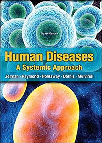Human Diseases, 8th Edition Zelman, Tompary, Raymond, Holdaway, E. Mulvihill, Test Bank