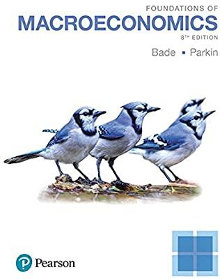 Macroeconomics Canada in the Global Environment Michael Parkin, Robin Bade Test Bank