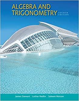 Algebra and Trigonometry, 4th Edition James Stewart, Lothar Redlin, Saleem Watson Test Bank