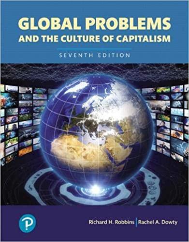 Global Problems and the Culture of Capitalism, Books a la Carte, 7E Richard H. Robbins, Rachel A. Dowty, IM w Test Bank
