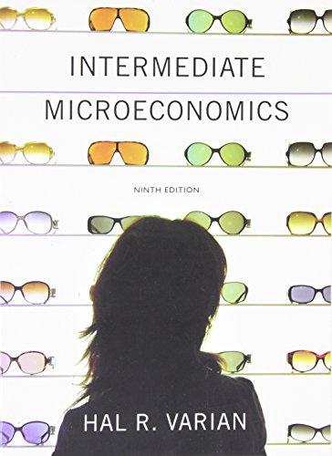 Intermediate Microeconomics A Modern Approach 9th edition Hal R. Varian Test Bank