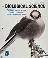 Biological Science, Third Canadian Edition, 3E Freeman, Quillin, Allison, Black, Podgorski, Taylor, Carmichael, Harrington, Sharp, Instructor Solution Manual