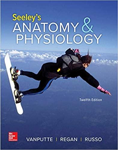 Seeleys Anatomy & Physiology, 12e VanPutte, Regan, Russo, Test Bank